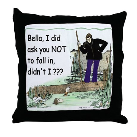 Funny Bella Throw Pillow