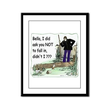 Funny Bella Framed Panel Print