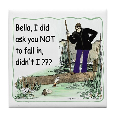 Funny Bella Tile Coaster