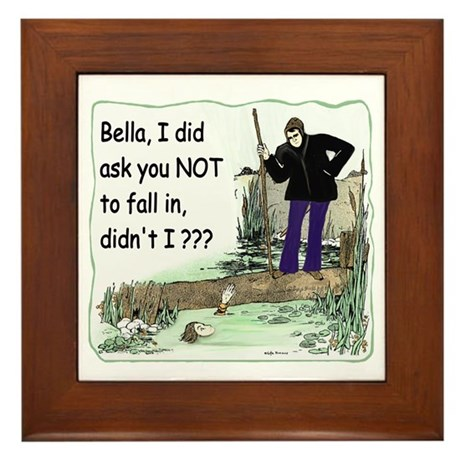 Funny Bella Framed Tile