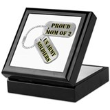 Proud Mom of 2 US Army Soldiers Keepsake Box