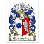 Rosenvinge Coat of Arms Small Poster