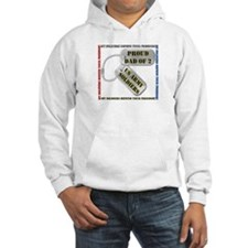 Proud Dad of 2 US Army Soldiers Hoodie