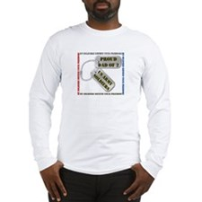 Proud Dad of 2 US Army Soldiers Long Sleeve T-Shir