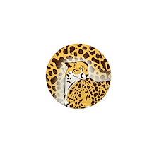 Cheetah Mini Button