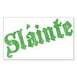 Slainte Rectangle Sticker