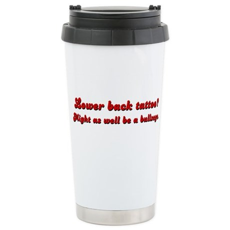 Lower Back Tattoo Ceramic Travel Mug