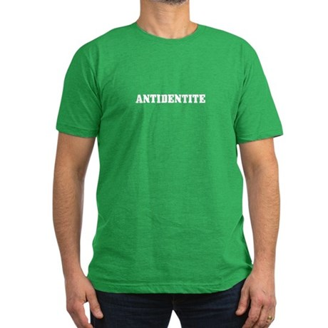 Antidentite Men's Fitted T-Shirt (dark)