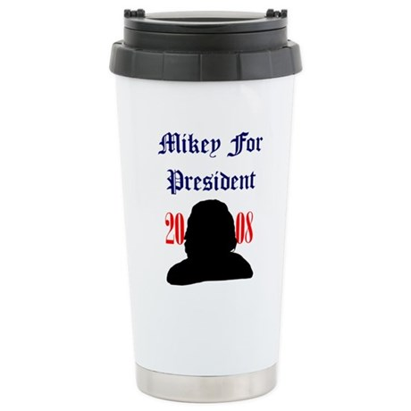 Mikey For President Ceramic Travel Mug