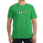 Cow & Hamburger Men's Fitted T-Shirt (dark)