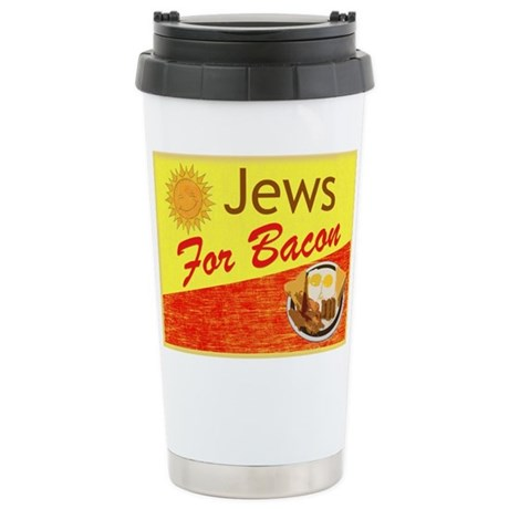 Jews For Bacon Ceramic Travel Mug