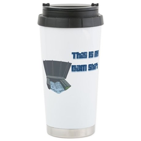 Dam T-Shirt Ceramic Travel Mug