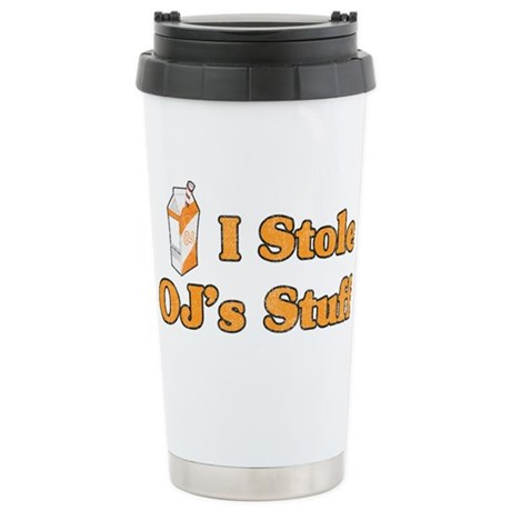I Stole OJ's Stuff Ceramic Travel Mug