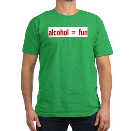 Alcohol = Fun Men's Fitted T-Shirt (dark)