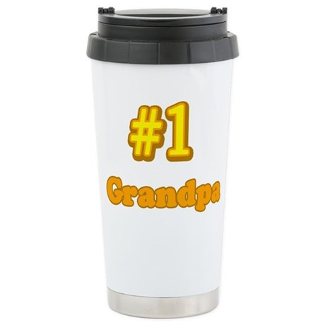 #1 Grandpa Ceramic Travel Mug
