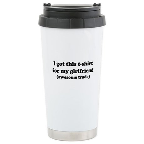 Girlfriend T-Shirt Ceramic Travel Mug