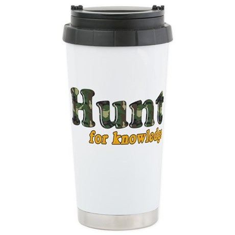 Hunt For Knowledge Ceramic Travel Mug