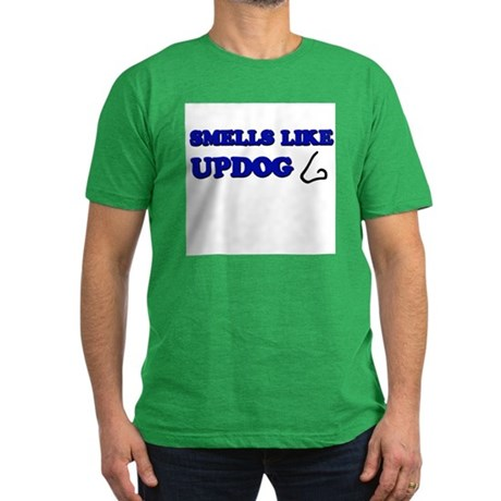 Smells Like Updog Men's Fitted T-Shirt (dark)
