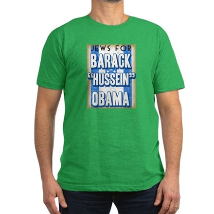 Jews For Barack Obama Men's Fitted T-Shirt (dark)