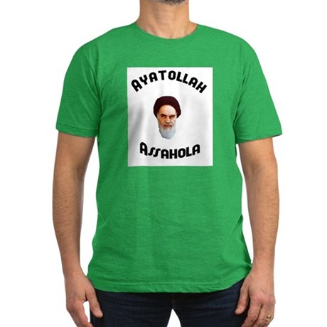 Ayatollah Assahola Men's Fitted T-Shirt (dark)