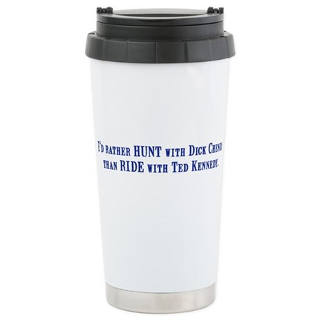 Ride with Ted Kennedy Ceramic Travel Mug
