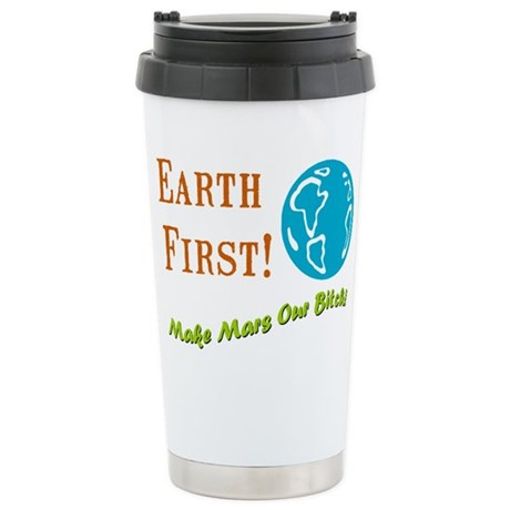 Earth First Ceramic Travel Mug