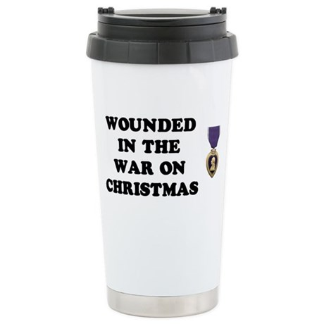 War On Christmas Wounded Ceramic Travel Mug