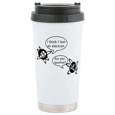 Atoms & Electrons Ceramic Travel Mug
