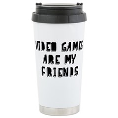 Video Game Friends Ceramic Travel Mug