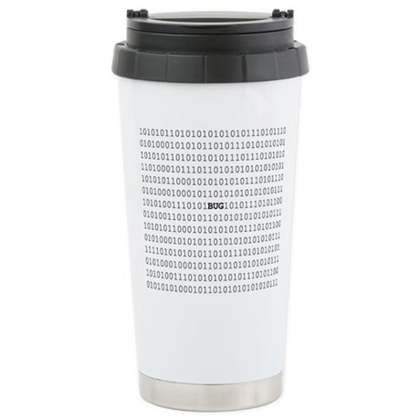 Bug In Code Ceramic Travel Mug