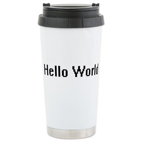 Hello World Ceramic Travel Mug