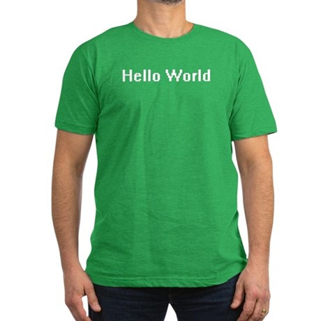 Hello World Men's Fitted T-Shirt (dark)