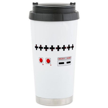 Old School NES Contra Code Ceramic Travel Mug