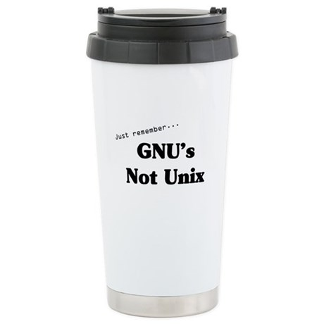 GNU's Not Unix Ceramic Travel Mug