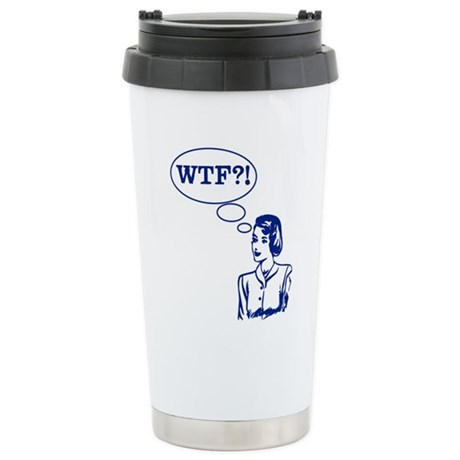WTF Vintage Ceramic Travel Mug