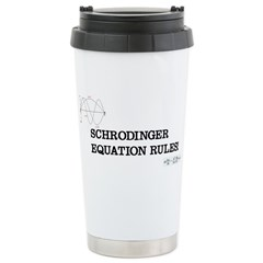 Schrodinger Equation Rules! Ceramic Travel Mug