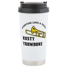 Rusty Trombone Ceramic Travel Mug