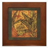 Banana Tree in Tropical Jungle Art Framed Tile