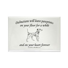 Dalmatian Pawprints Rectangle Magnet (10 pack)