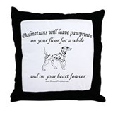 Dalmatian Pawprints Throw Pillow