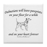 Dalmatian Pawprints Tile Coaster