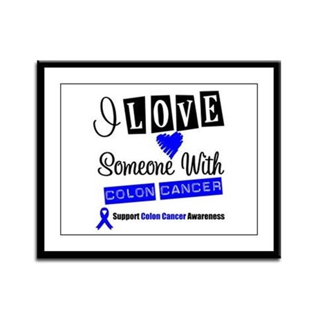 ILoveSomeone ColonCancer Framed Panel Print
