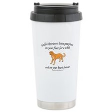 Golden Retriever Pawprints Ceramic Travel Mug