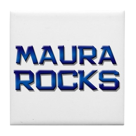 maura rocks Tile Coaster