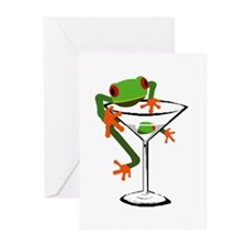 Frog and Martini Greeting Cards (Pk of 10)