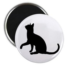 Black Cat Silhouette Magnet