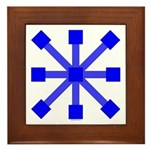 Blue Jack Framed Tile