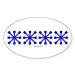 Blue Jacks Oval Sticker (50 pk)