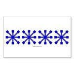 Blue Jacks Rectangle Sticker 50 pk)