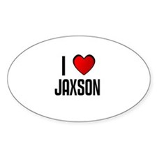 I LOVE JAXSON Oval Decal